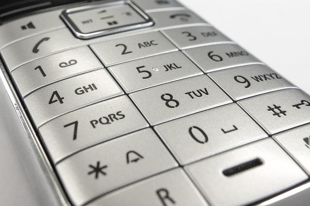 telefon klawiatura